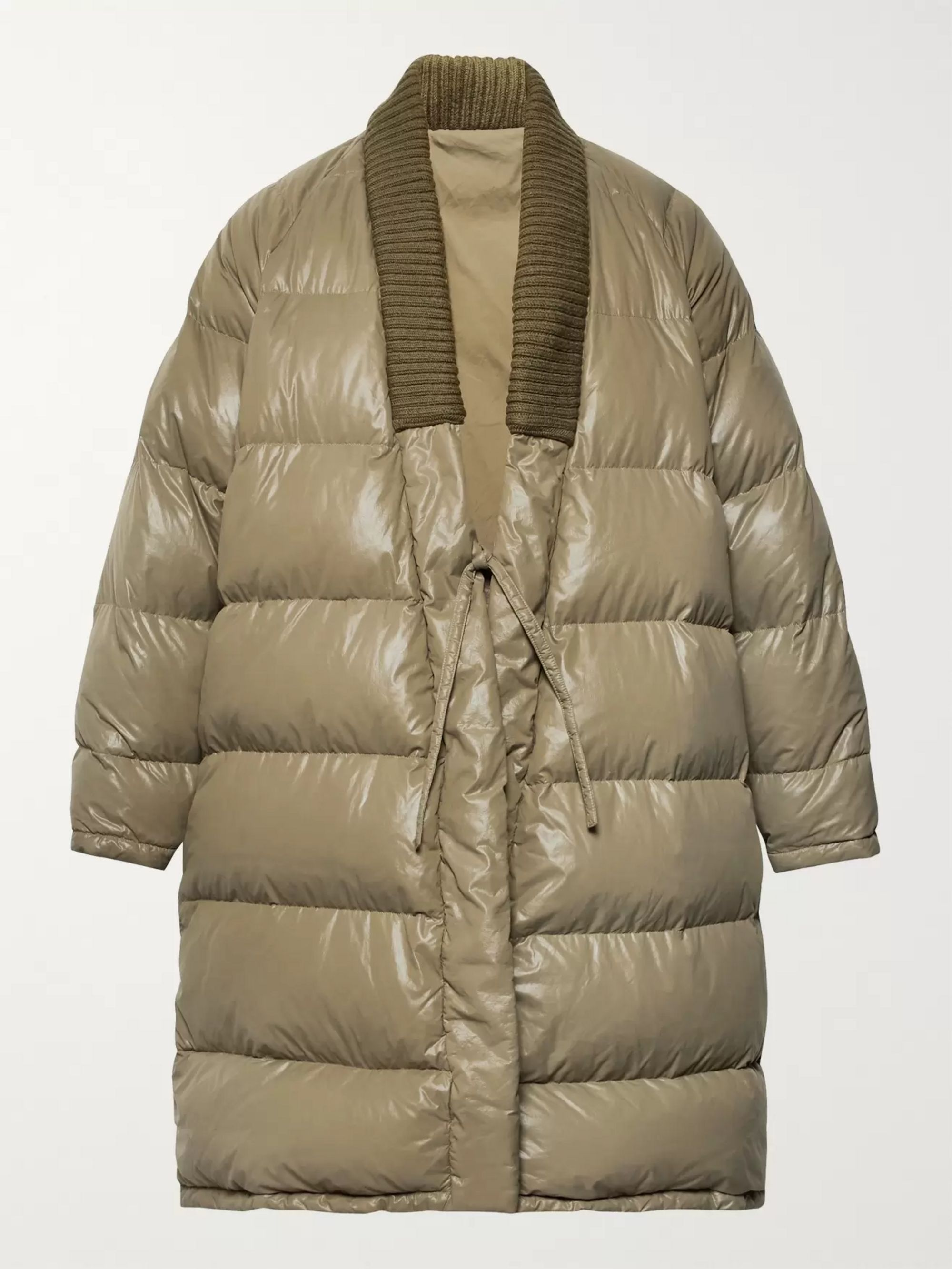 3e60a50cf Yukata Oversized Wool-Trimmed Quilted Nylon Down Coat