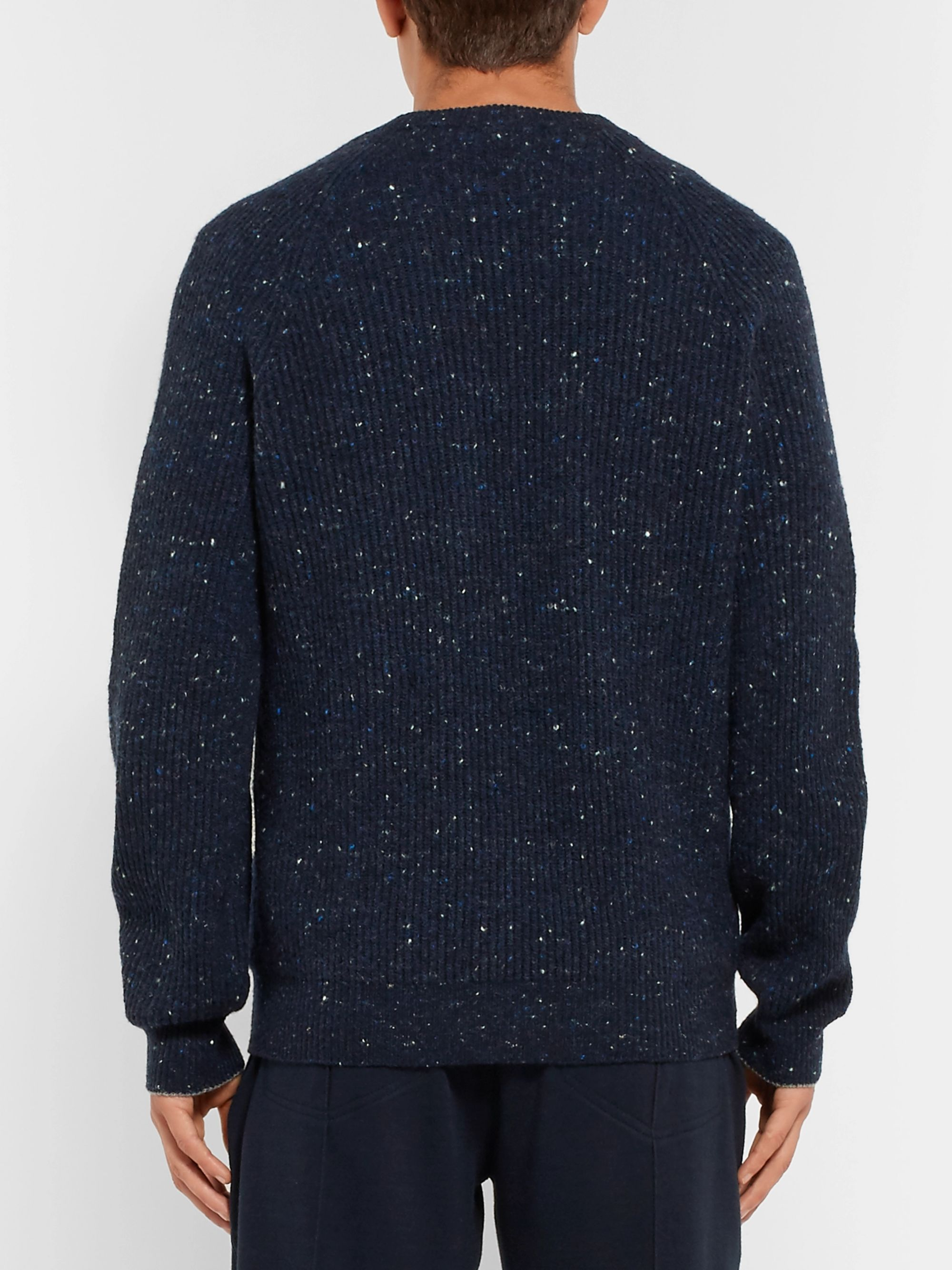 Brunello Cucinelli Ribbed Virgin Wool-Blend Sweater