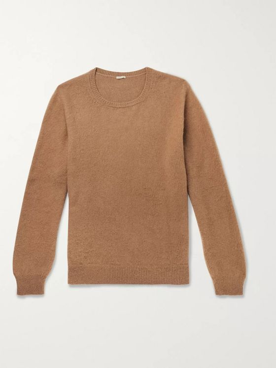 Massimo Alba Brushed Camel Hair Sweater