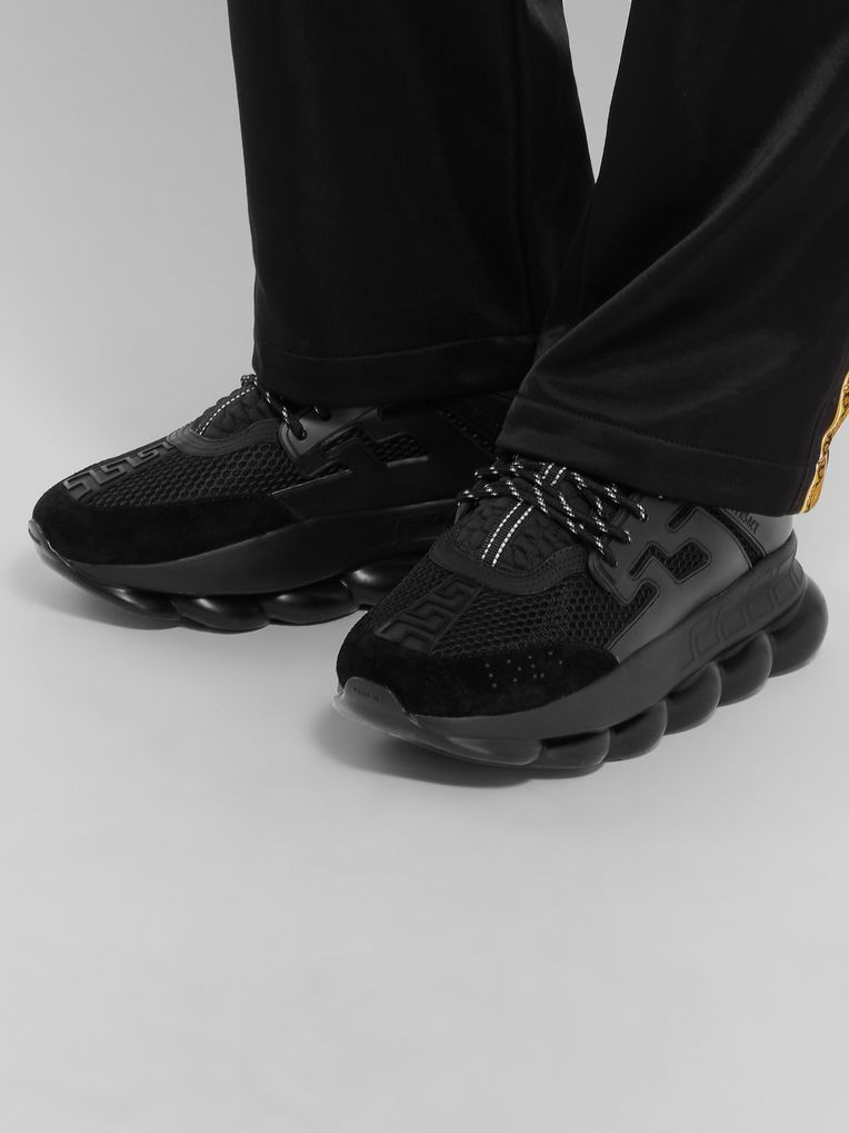 Versace Chain Reaction Panelled Mesh Sneakers