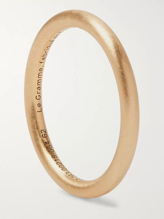Le Gramme Le 3 Brushed 18-Karat Gold Ring