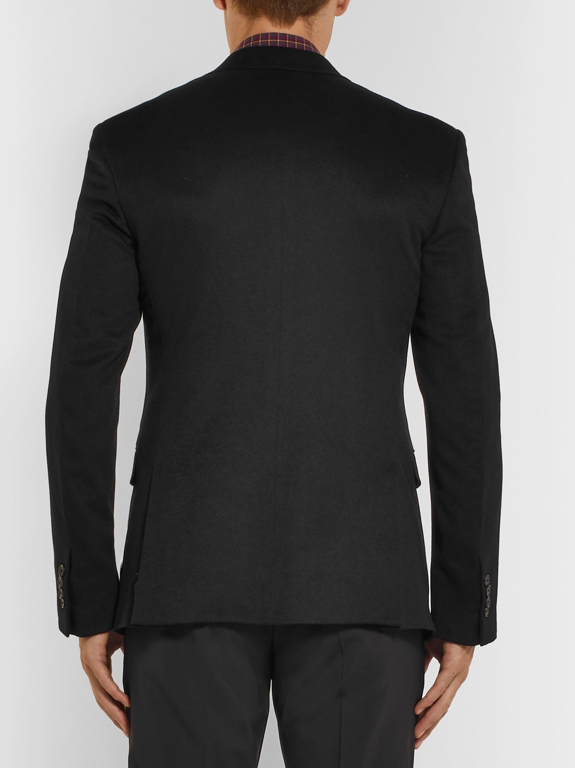 Prada Black Slim-Fit Cashmere Blazer