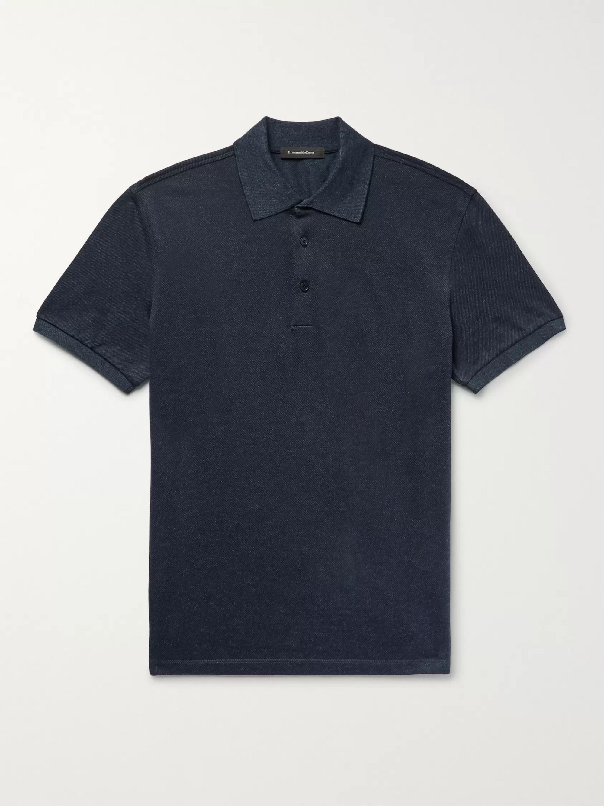 Ermenegildo Zegna Slim-Fit Cotton-Piqué Polo-Shirt