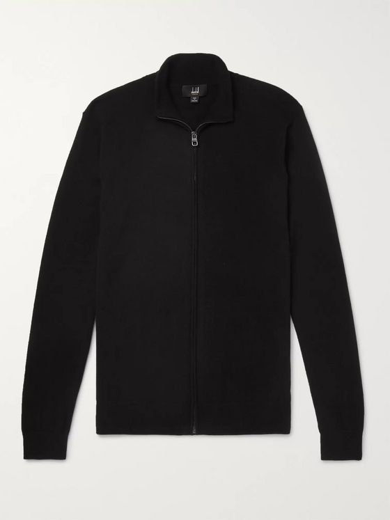 Dunhill Cashmere Zip-Up Cardigan