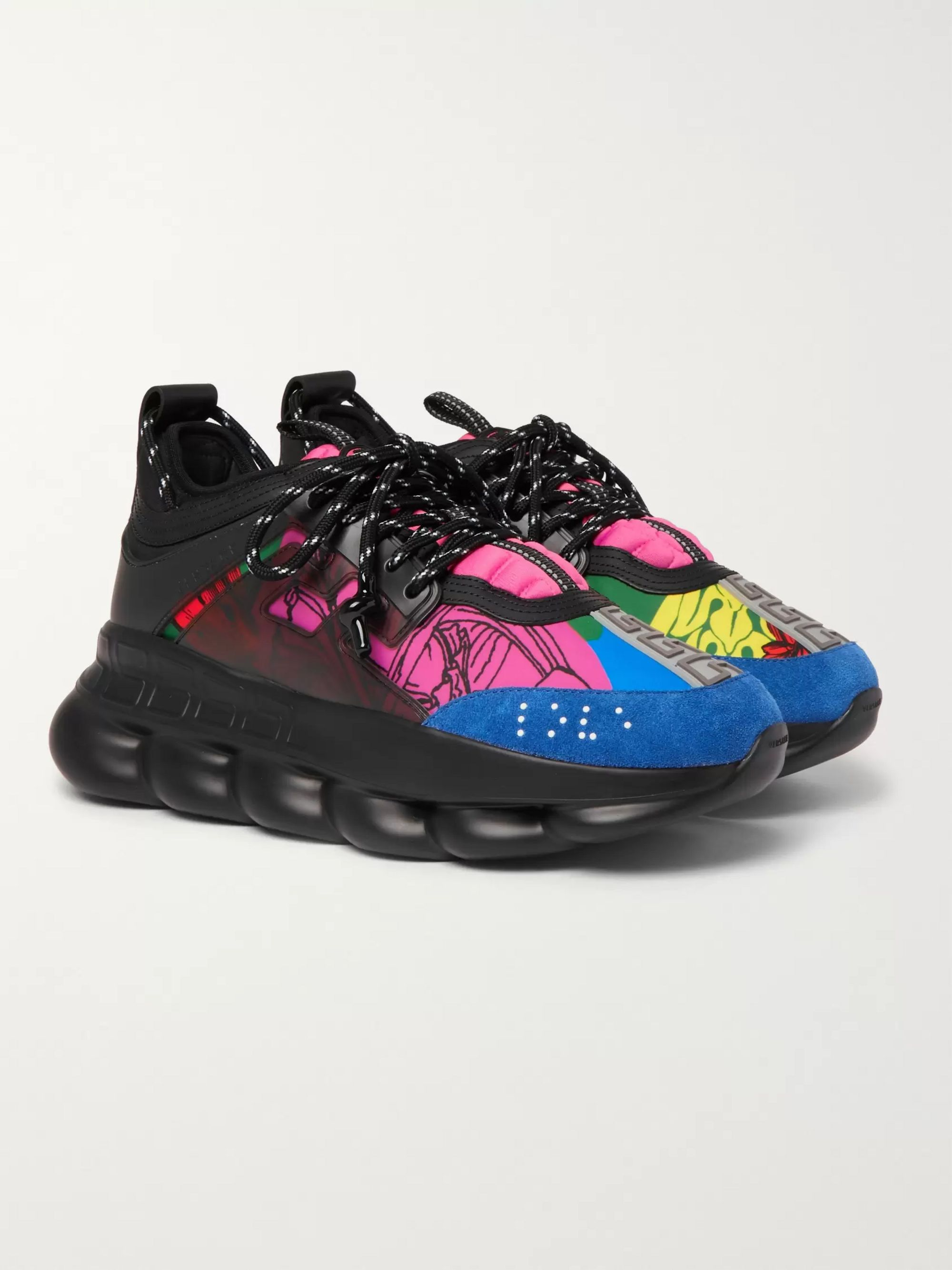 VERSACE Chain Reaction Sneakers in Multi | FWRD | Chaussure