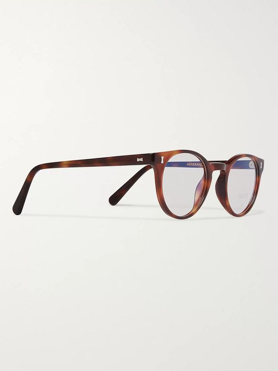Cubitts Herbrand Round-Frame Tortoiseshell Acetate Optical Glasses