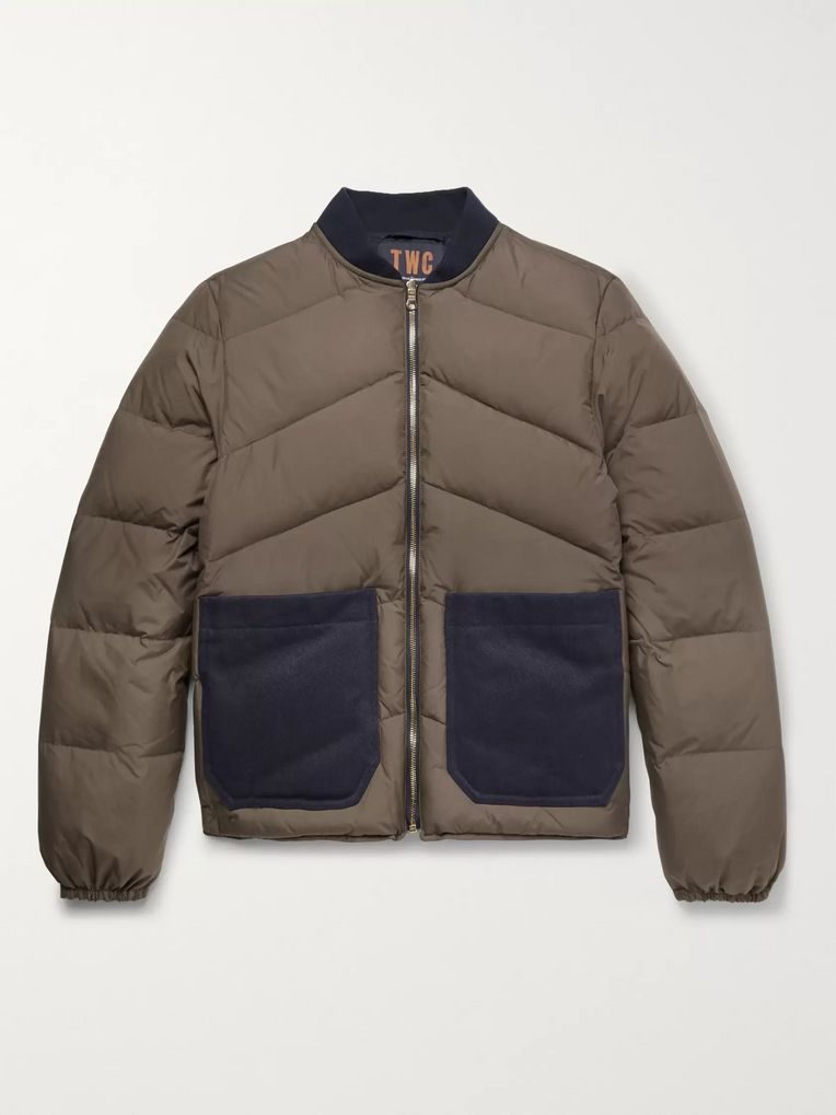 The Workers Club Reversible Quilted-Shell Down Jacket