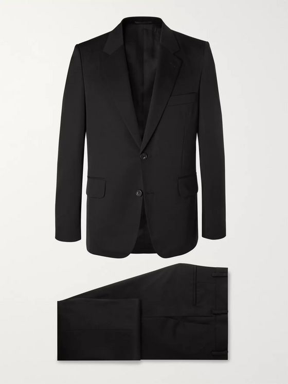 The Row Black David Slim-Fit Wool-Twill Suit