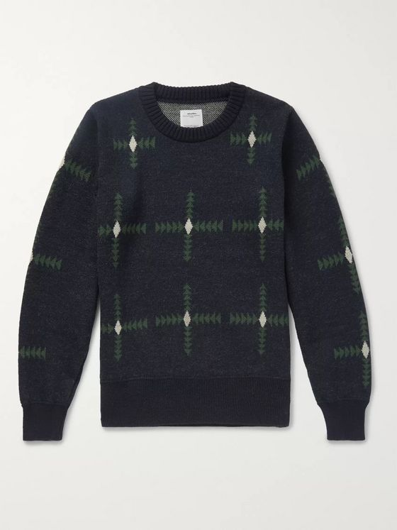 visvim Wool-Jacquard Sweater