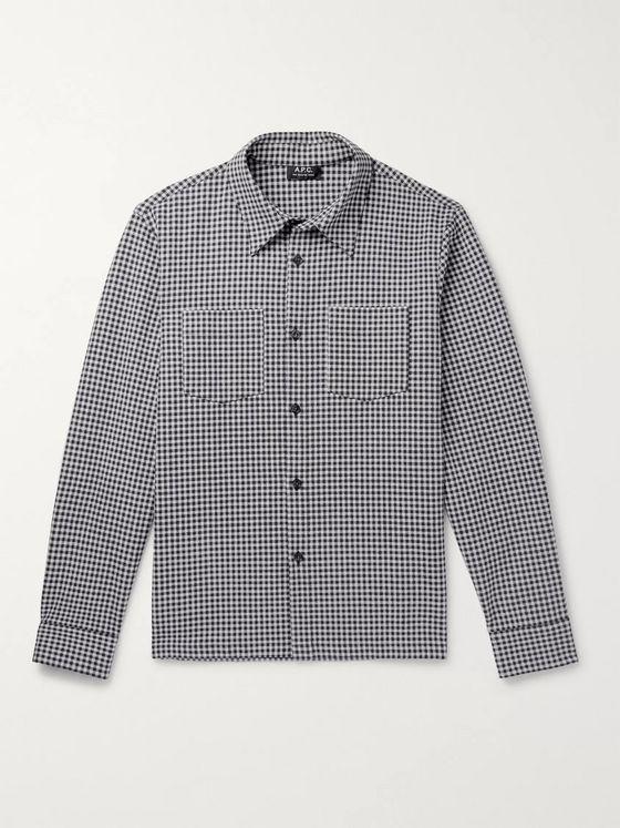 A.P.C. Gingham Cotton and Linen-Blend Shirt