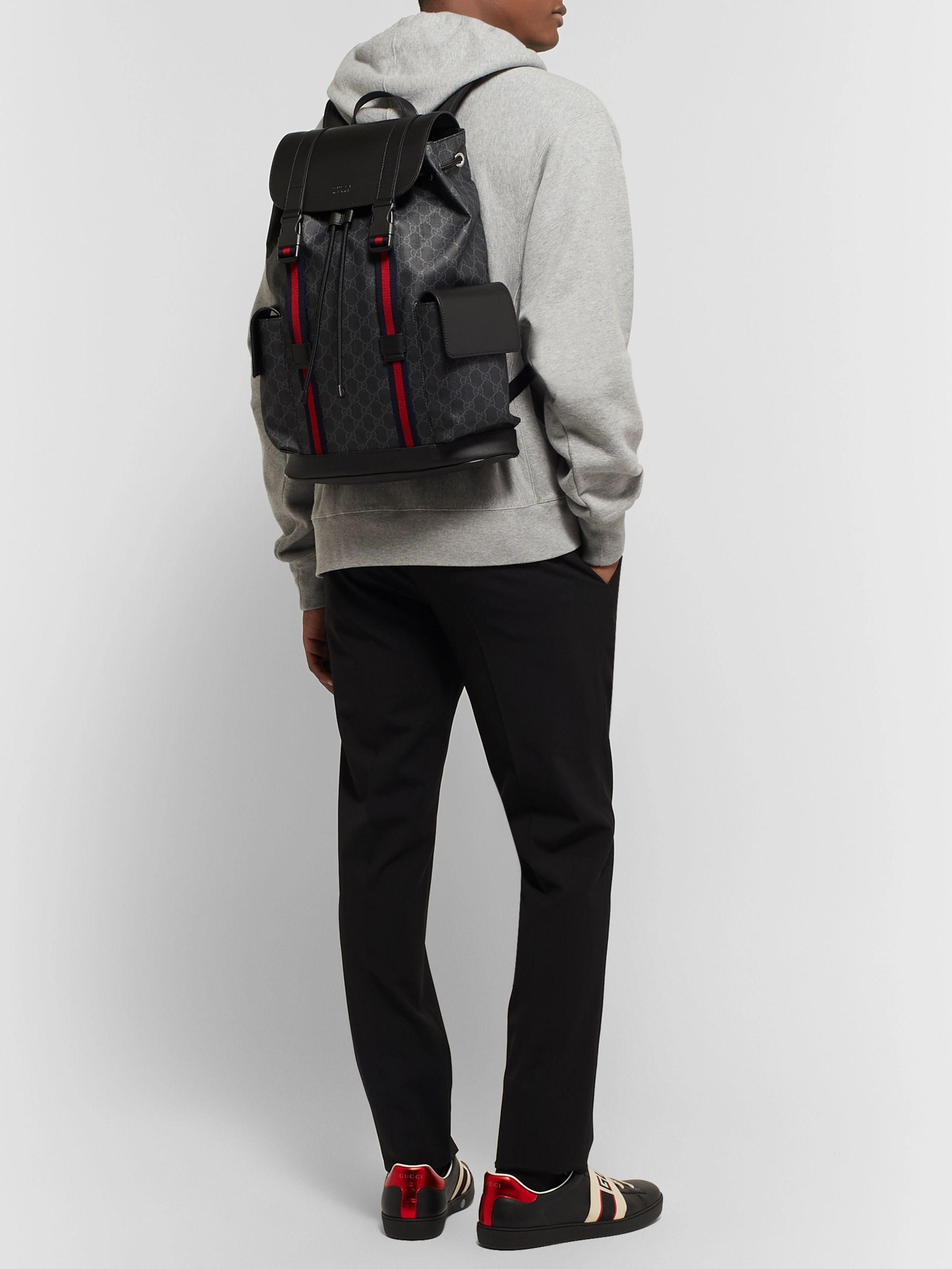 Buy adidas Originals Black Monogram Classic Backpack from
