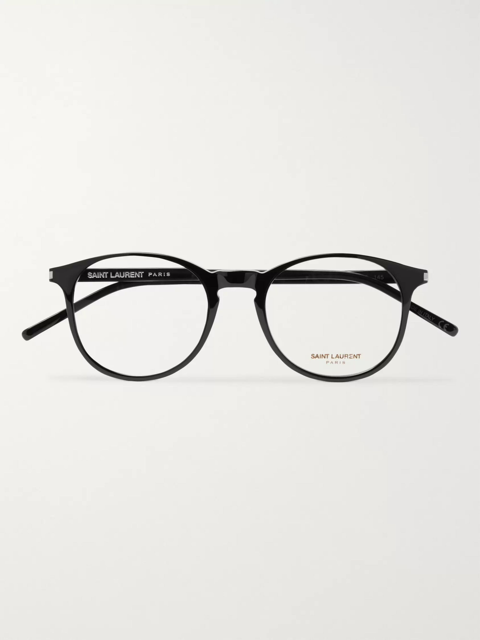 SAINT LAURENT Round-Frame Acetate Optical Glasses