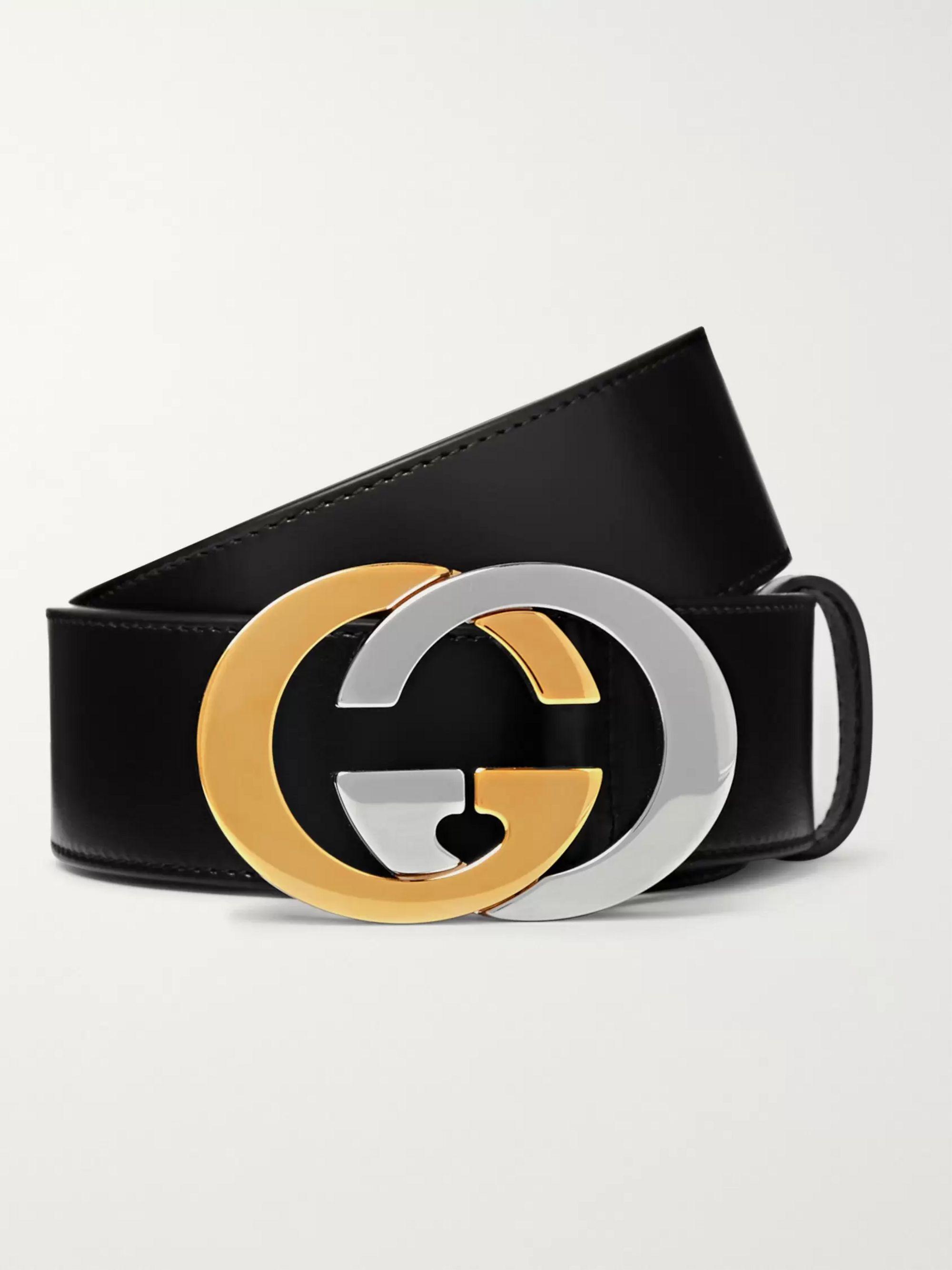 black and gold gucci belt