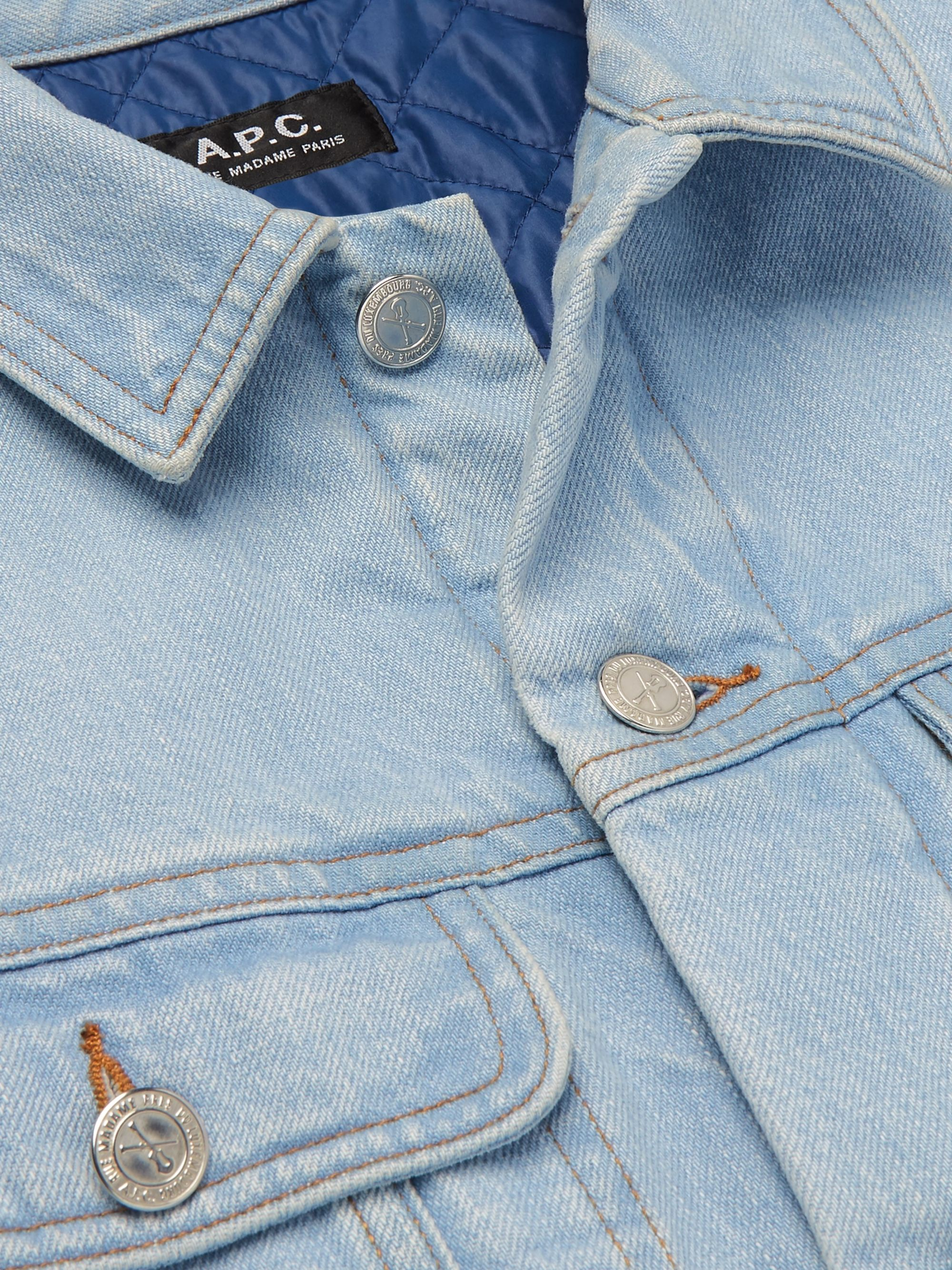 A.P.C. Padded Denim Trucker Jacket