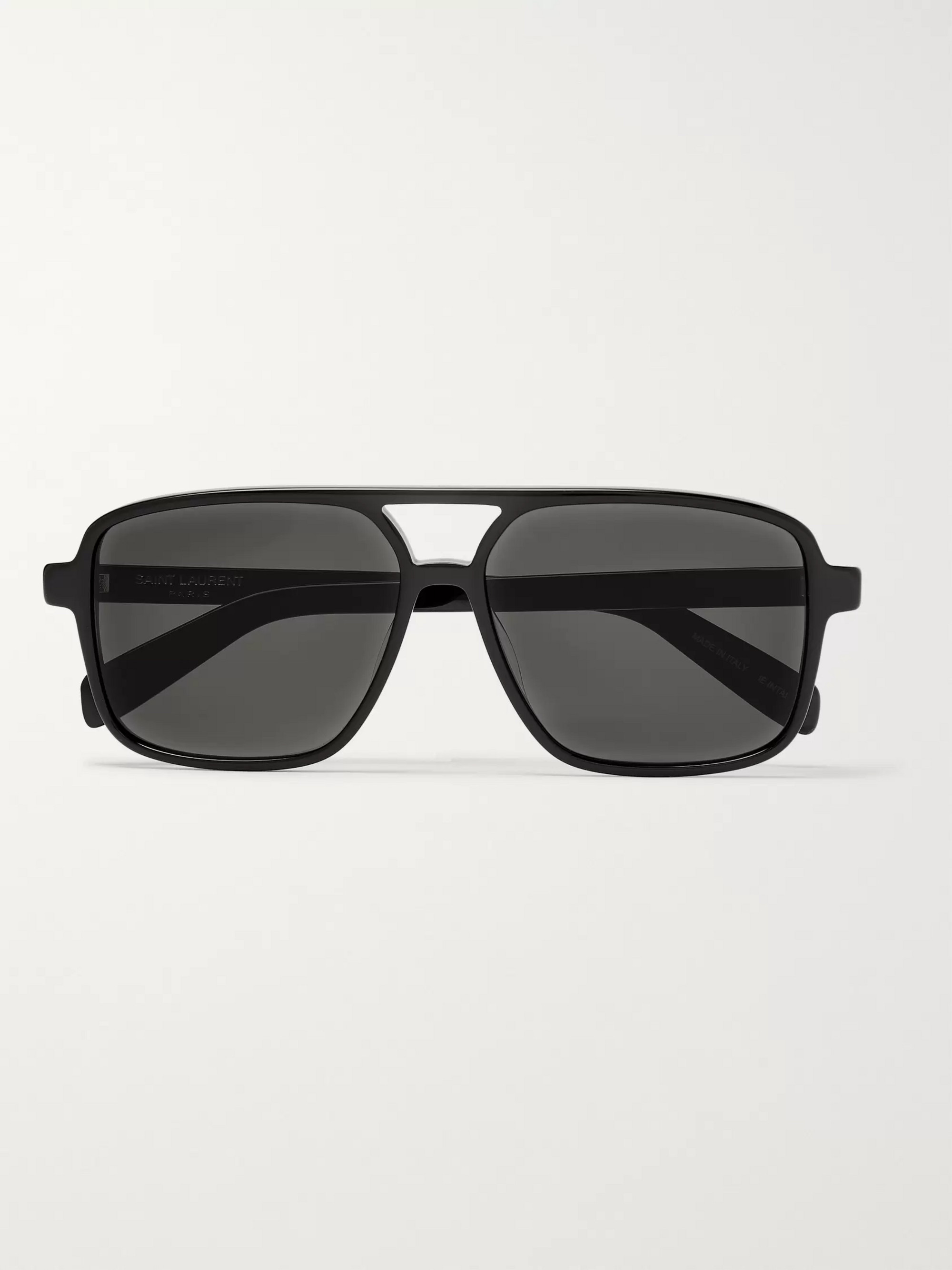 SAINT LAURENT Aviator-Style Acetate Sunglasses