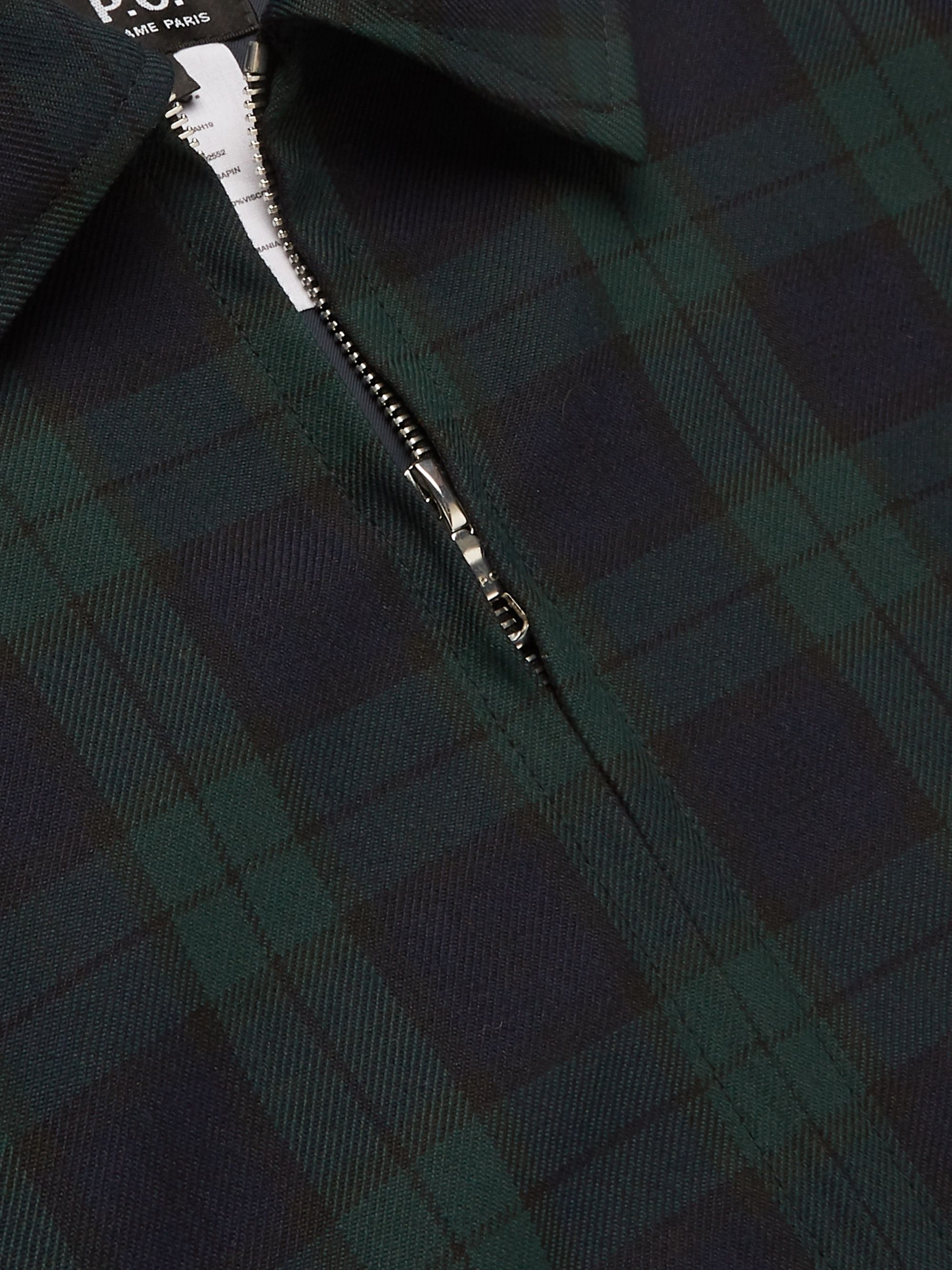 A.P.C. Blackwatch Checked Twill Blouson Jacket