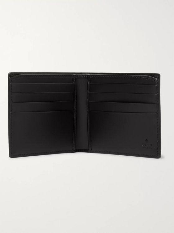 Gucci Monogrammed Coated-Canvas Billfold Wallet