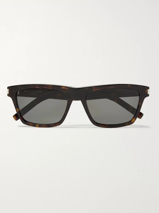 SAINT LAURENT D-Frame Tortoiseshell Acetate Sunglasses