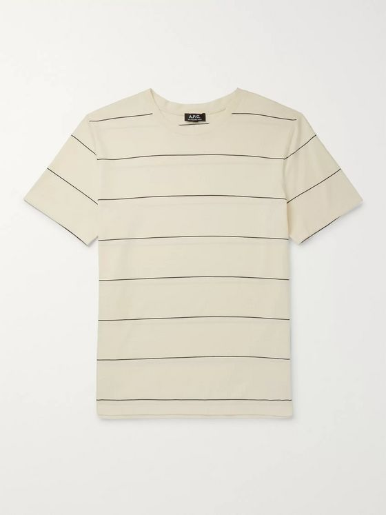 A.P.C. Yukata Striped Cotton-Jersey T-Shirt