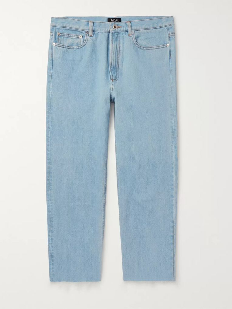 A.P.C. Alan Cropped Distressed Denim Jeans