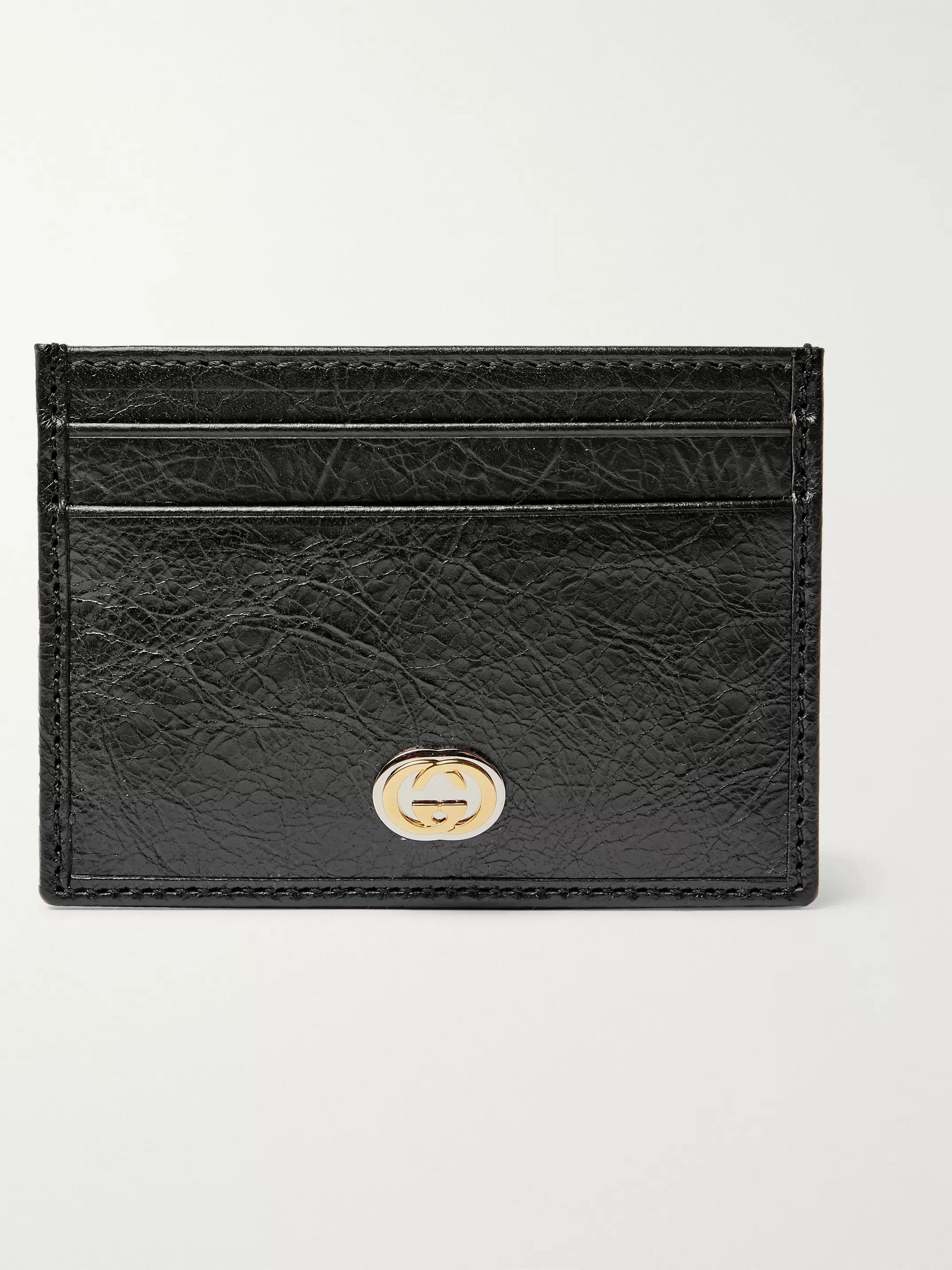 Gucci Creased-Leather Cardholder