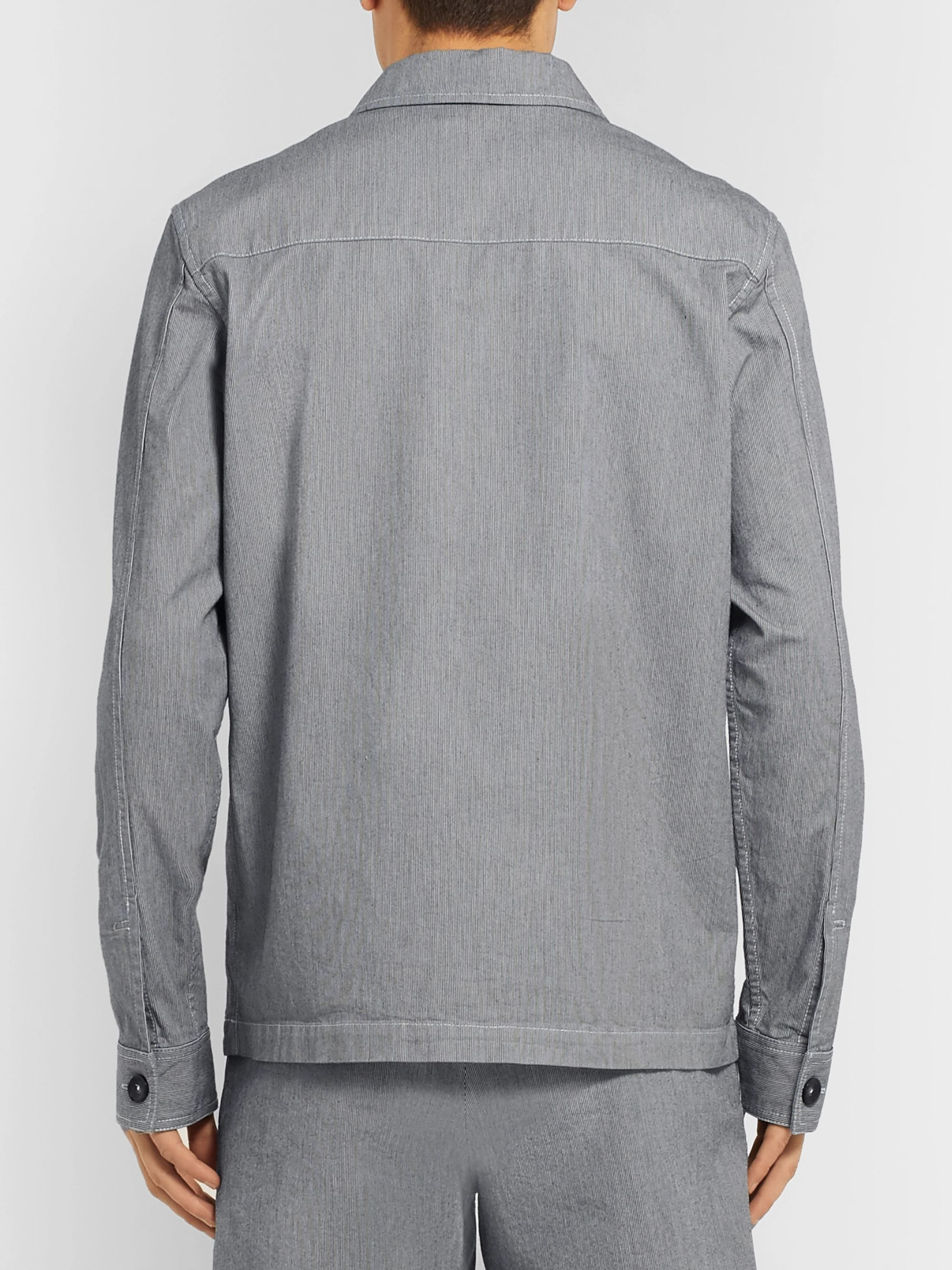 A.P.C. Striped Cotton Chore Jacket