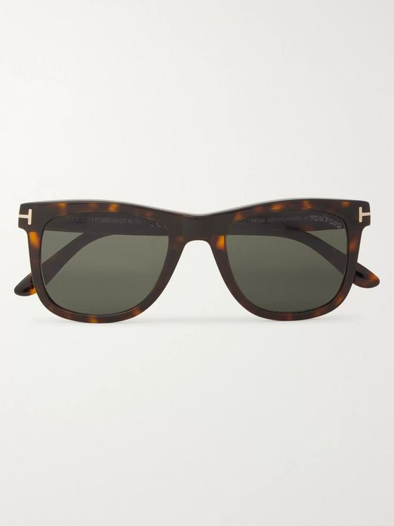 TOM FORD Square-Frame Tortoiseshell Acetate Polarised Sunglasses