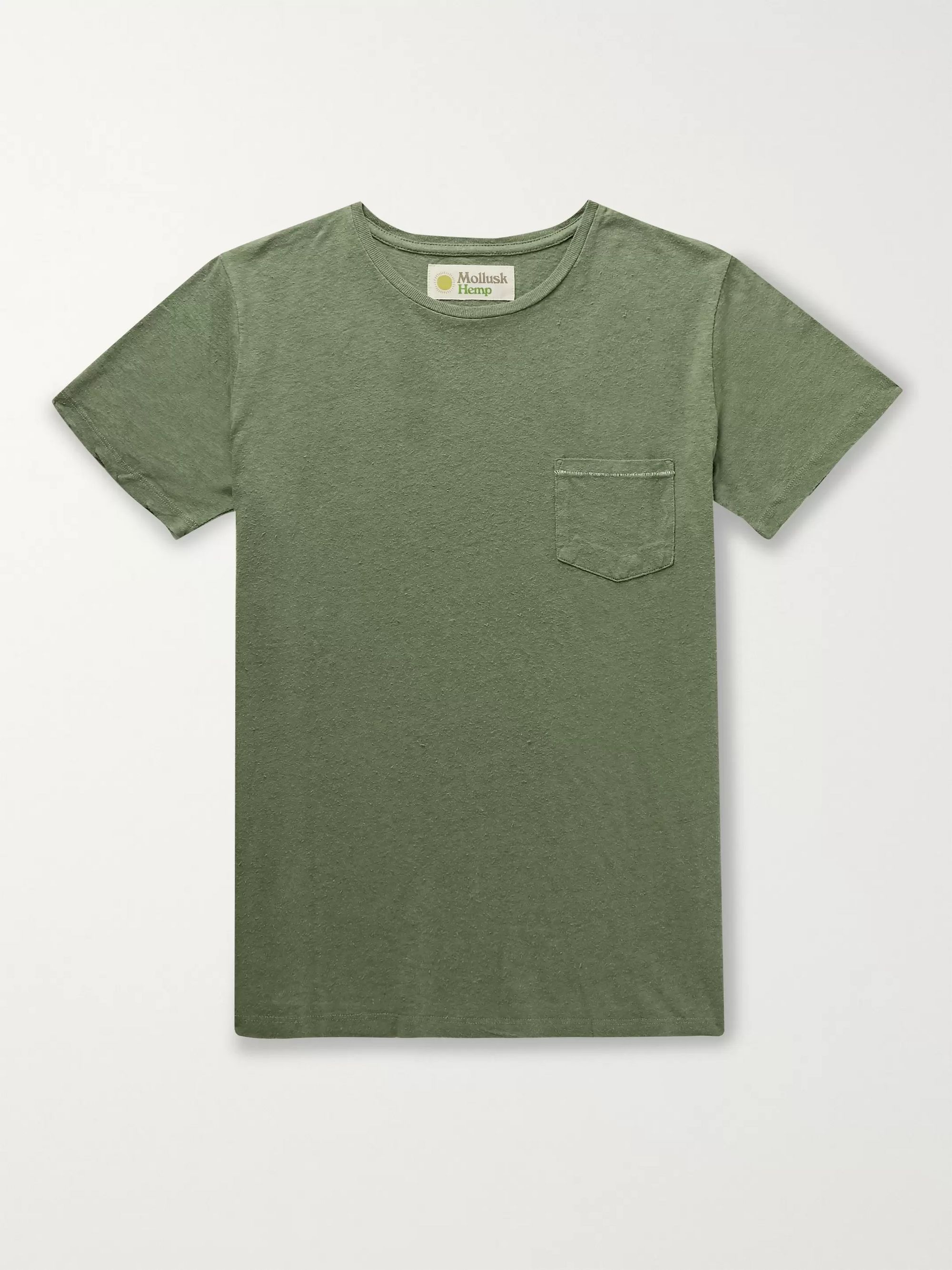 Mollusk Garment-Dyed Slub Hemp and Cotton-Blend T-Shirt