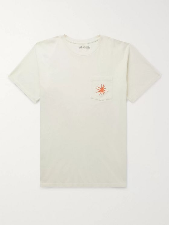 Mollusk Printed Garment-Dyed Cotton-Jersey T-Shirt