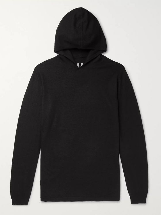 Rick Owens Slim-Fit Boiled Cashmere Hoodie