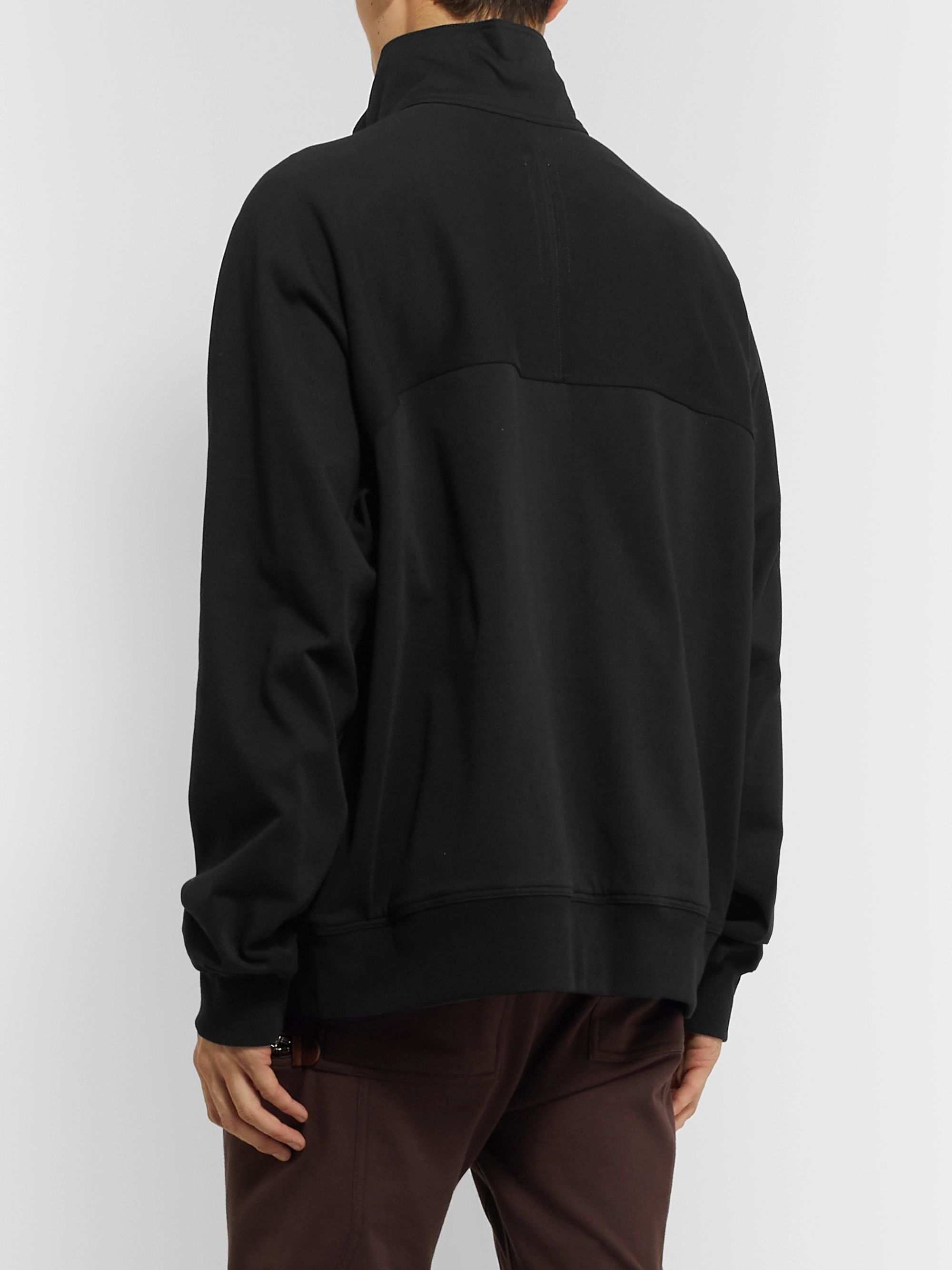 Rick Owens Cotton-Jersey Track Jacket