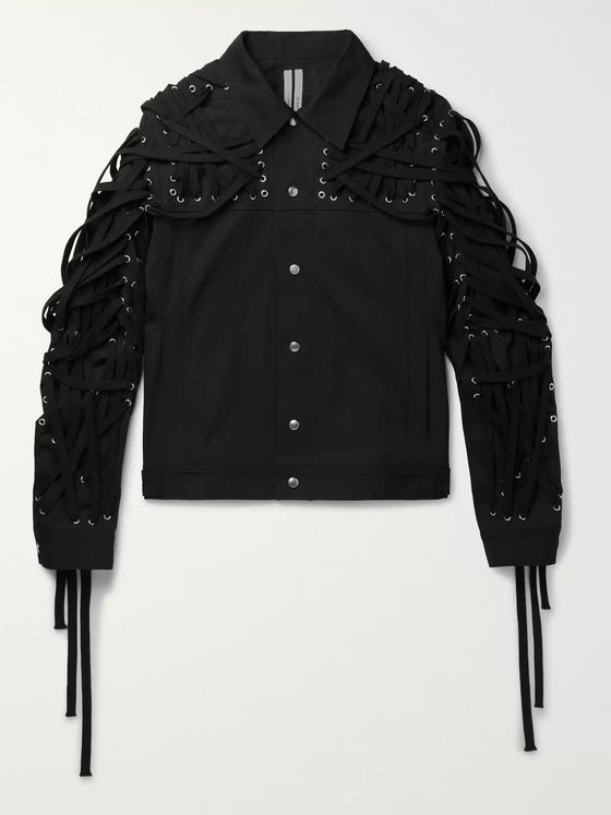 Rick Owens Slim-Fit Embellished Cotton-Blend Twill Jacket