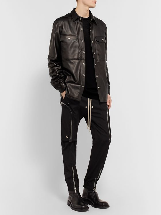 Rick Owens Leather Overshirt