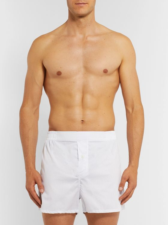 Hamilton and Hare Five-Pack Cotton-Twill Boxer Shorts