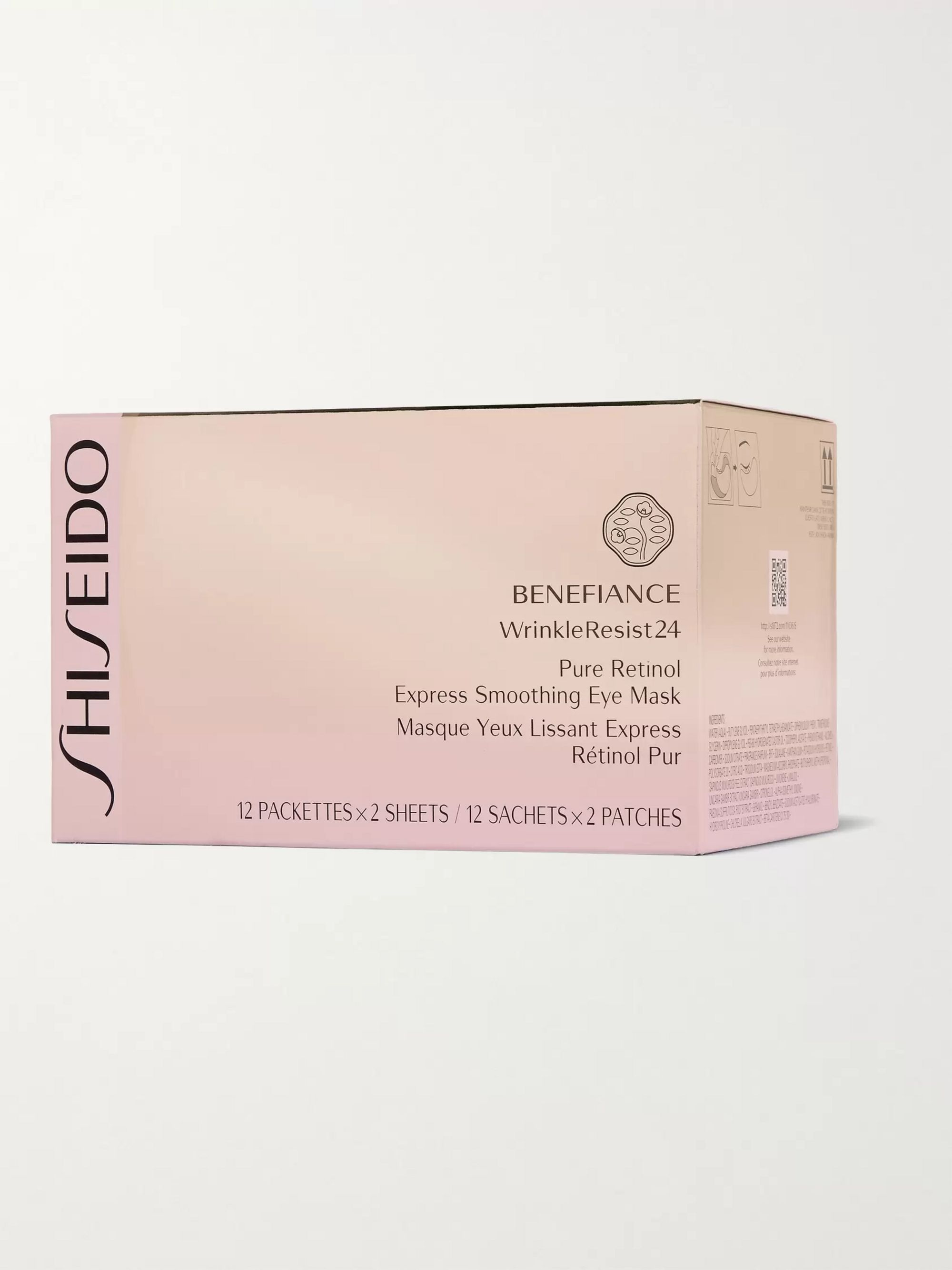 Shiseido Benefiance WrinkleResist24 Pure Retinol Express Smoothing Eye Mask x 12