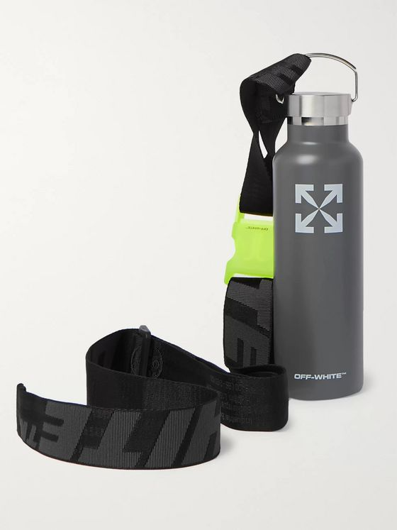 Off-White Logo-Print Stainless Steel Water Bottle, 500ml