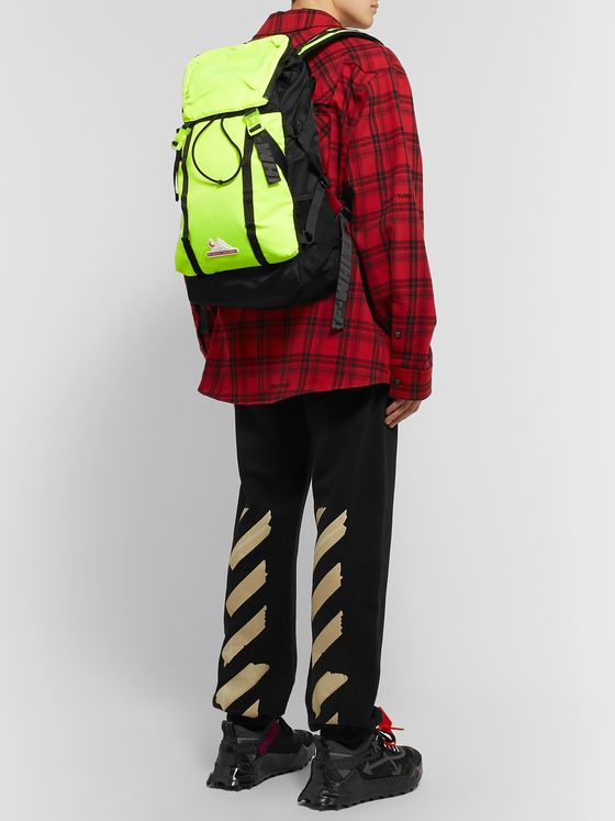 Off-White Equipment Neon Nylon Backpack