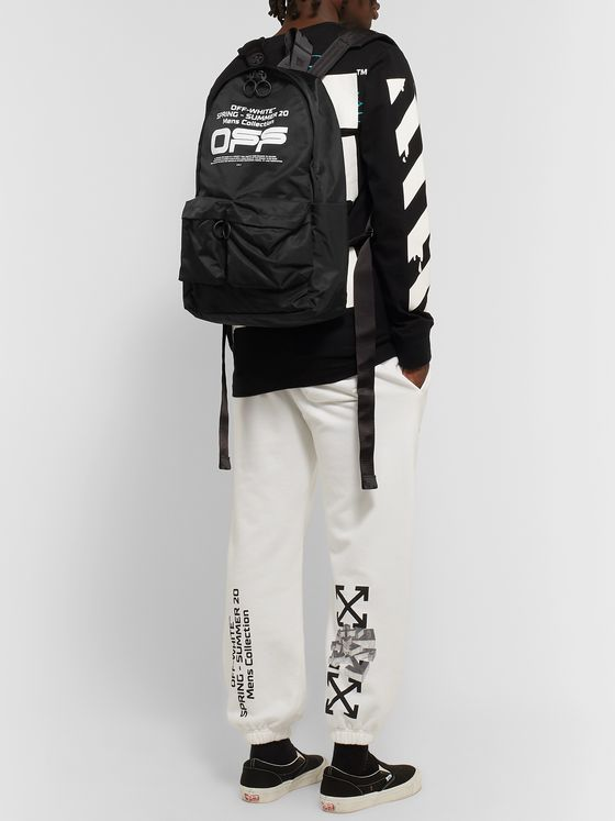 Off-White Logo-Print Shell Backpack