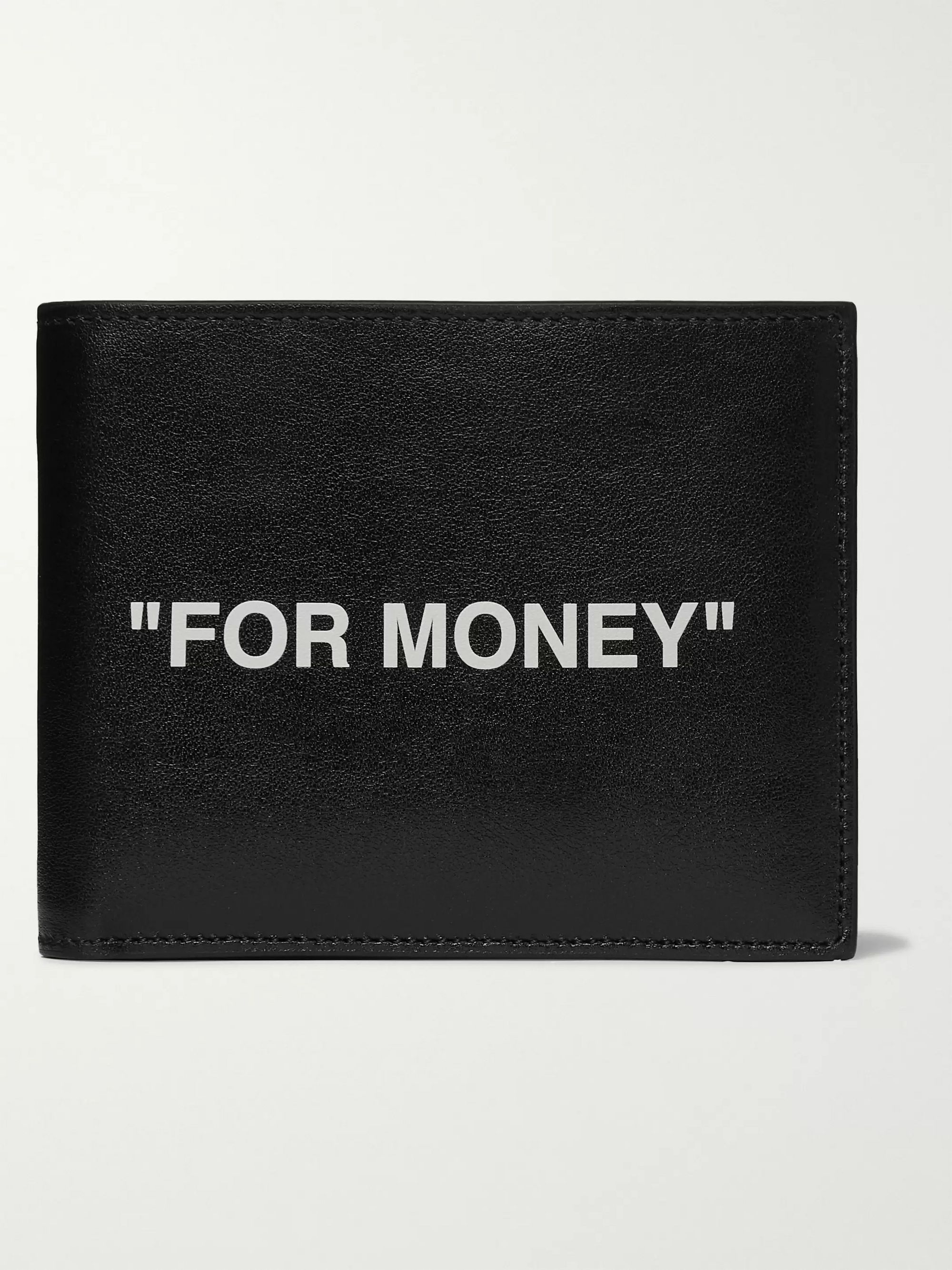 Off-White Printed Leather Billfold Wallet