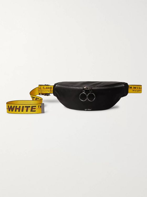 Off-White Logo-Jacquard Webbing and Shell Belt Bag