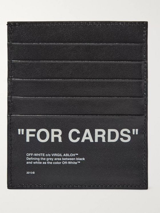Off-White Printed Leather Cardholder