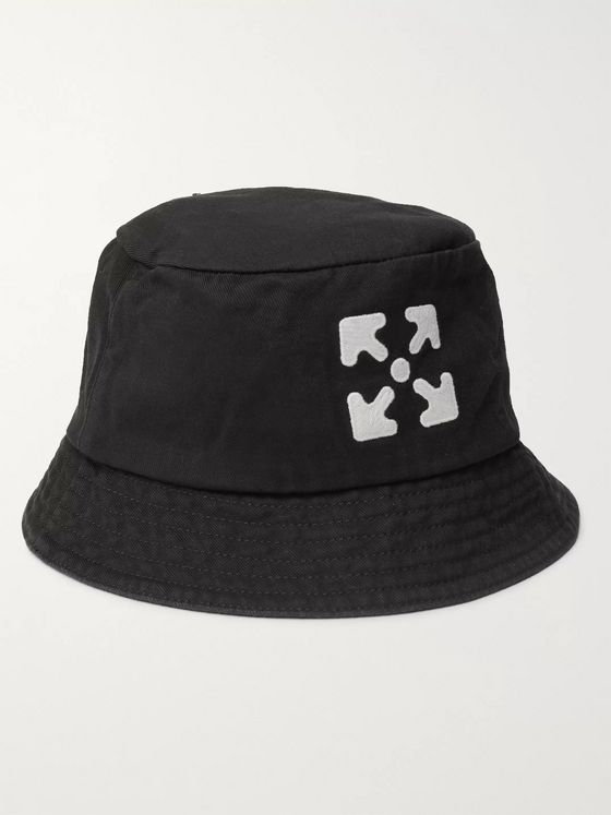 Off-White Logo-Embroidered Cotton-Twill Bucket Hat