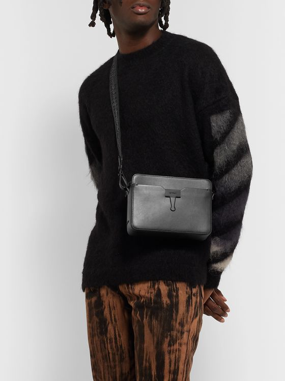 Off-White Leather Messenger Bag