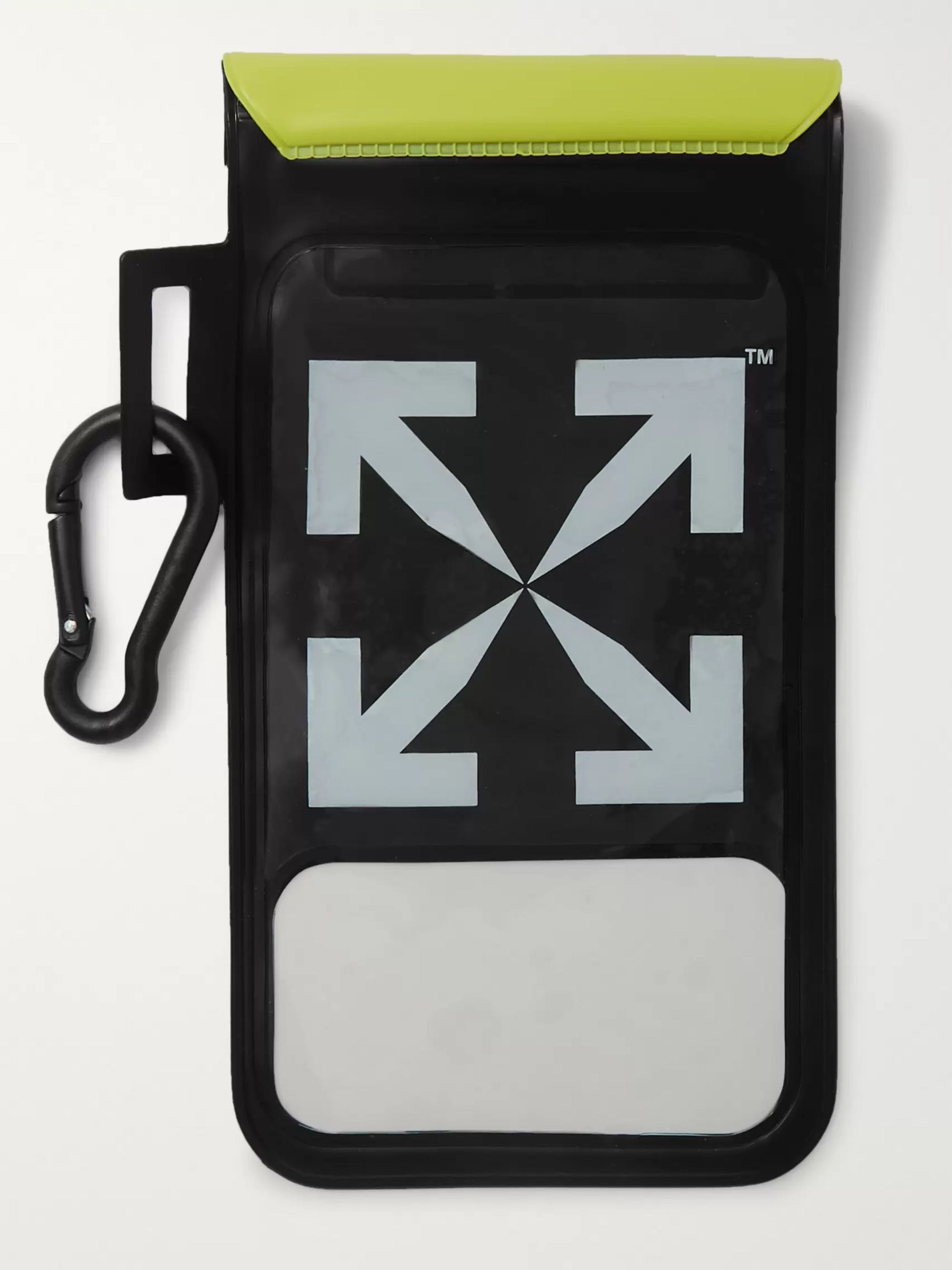 Off-White Waterproof Logo-Print Vinyl Phone Case