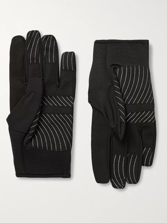 Off-White Active Stretch-Jersey and Mesh Gloves