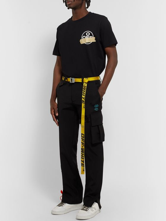 Off-White 2.5cm Yellow 2.0 Industrial Logo-Jacquard Webbing Belt