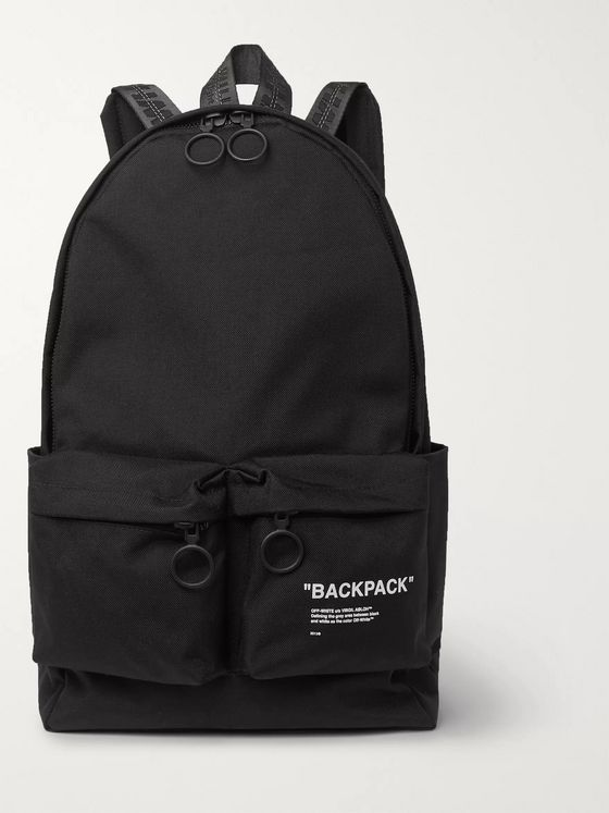 Off-White Printed Canvas Backpack
