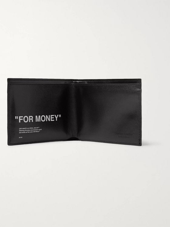Off-White Printed Reflective Leather Billfold Wallet
