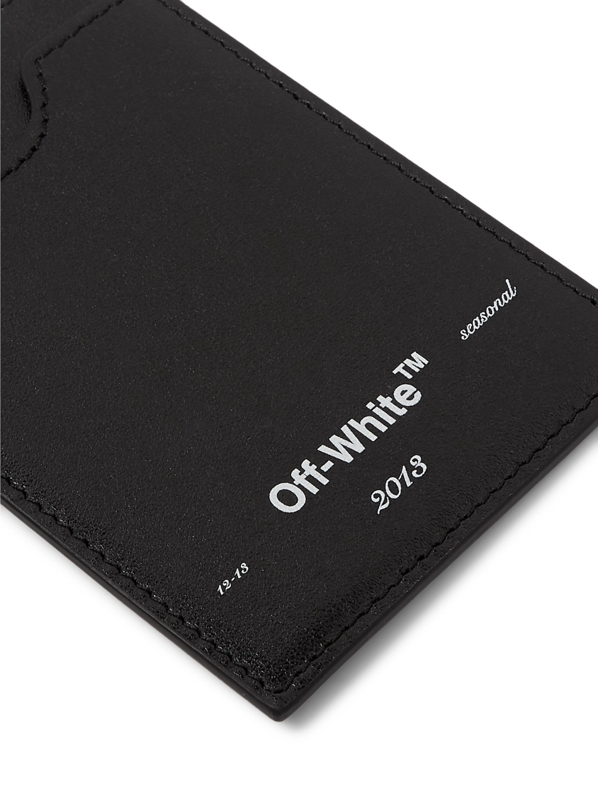 Off-White Logo-Print Leather Cardholder