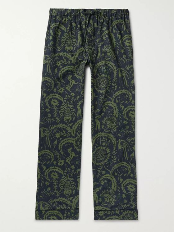 Desmond & Dempsey Printed Cotton Pyjama Trousers